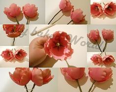 How to make gumpaste tulips (tutorial in German but photos are easy to follow).