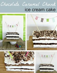 Chocolate Caramel Chunk Ice Cream Cake by @Tonya Staab YUM!