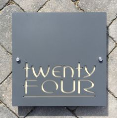 Original and Unique Laser cut Bespoke Large House Number sign Contemporary Designs