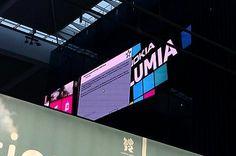 Nov 11th 2011. Three of the five Nokia digital billboards in departures at BAA's London Heathrow Terminal 5