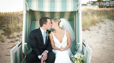 Kate and Alex say I do and share a kiss at Chatham Bars Inn on Cape Cod