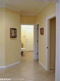 Wall Color Ideas: Soft And Pretty Paint Colors For Your Home in house painting for hall Wall Colours For Hall, Home Wall Colour, Hall Colour, Interior Wall Colors, Kitchen Wall Colors, Bedroom Wall Colors, Interior Wall Paintings, Hallway Colours, Asian Paints Colour Shades