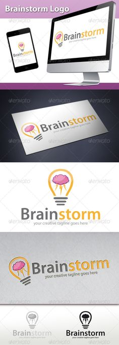 Brainstorm - Logo Design Template Vector #logotype Download it here: http://graphicriver.net/item/brainstorm-logo/2855759?s_rank=1078?ref=nexion