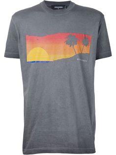DSQUARED2 Sunset Print T-Shirt. #dsquared2 #cloth #t-shirt