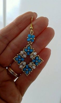Beads dangle earring. Craft ideas from LC.Pandahall.com …