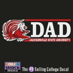 JSU Dad Car JSU. Surprise your dad with a JSU car decal! He will love supporting Jacksonville State University!