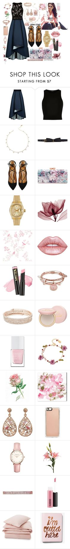 """""""🌸💛"""" by kiaracouture ❤ liked on Polyvore featuring Sachin + Babi, River Island, Lanvin, Aquazzura, Ted Baker, Rolex, adidas NEO, Lime Crime, Alex and Ani and Anne Klein"""