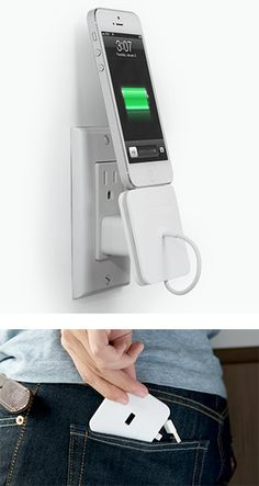 Rolio - a wall dock and cable manager for charging your phone in one device.