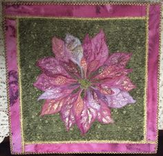 Poinsetta by Karen S. Riggins, for sale at Birdsong Studio facebook page.