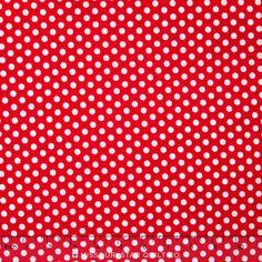 Happy Dots - Kiss Dot Red Yardage - Michael Miller Fabrics - Michael Miller