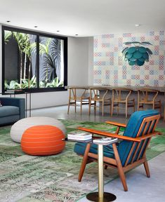 Colorful and Vibrant Home Interior by Guilherme Torres Architects