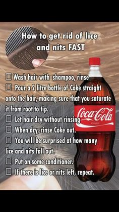 Get Rid Of Head Lice using Coca-Cola ... Health #Fitness #hacks #Tip
