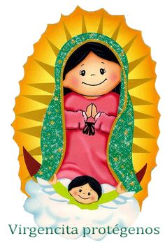 Our lady of guadalupe childish vector Virgin Mary Art, Blessed Virgin Mary, Arte Do Mickey Mouse, Church Pictures, Catholic Pictures, Mama Mary, Christian Crafts, Catholic Kids, Wow Art
