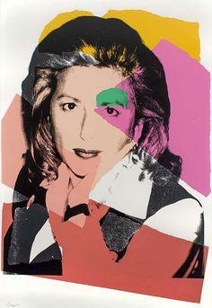 Signed Andy Warhol Screenprint, Marcia Weisman, 1975