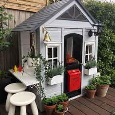 I think I can say the cubby house hack is done- the outside at least. Inside needs some further work though. for any parent…