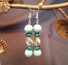 Turquoise Drop Earrings by MarysGiftHouse on Etsy