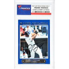 Frank Thomas Chicago White Sox Fanatics Authentic Autographed 1992 Fleer Rookie Sensations #1 Card - $179.99