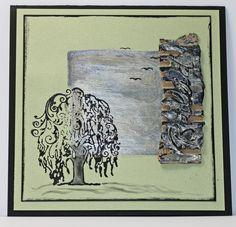 Kondolenzkarte - Trauer & Gedenken - Ideen für die Gestaltung von Trauerkarten mit Motivstempeln von Viva Decor - gestaltet von Daniela Rogall
