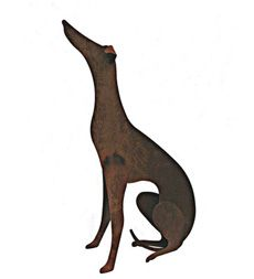 """Sculptural Metal Greyhound 