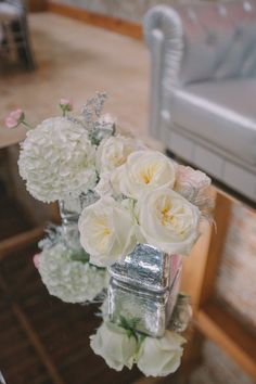 #Centerpiece | Photography: Pure 7 Studios |   See more Wedding Inspiration on #SMP: http://www.stylemepretty.com/little-black-book-blog/2013/12/24/thomas-bistro-holiday-wedding-inspiration-shoot/