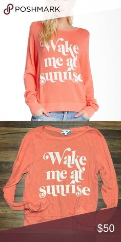 Wildfox Long Sleeve Wildfox wake me at sunrise long sleeve tee. Great condition Wildfox Tops