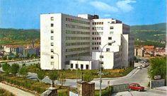 Residencia Sanitaria Nosa Señora do Cristal (Ourense). Entrou en funcionamento o 17 de maio de 1969, cun edificio de sete plantas con 246 camas. Integraba o Materno-Infantil.