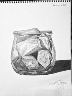 still life pencil drawing