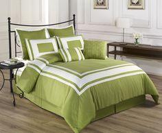 Lime Green Decor: Lime green bedding