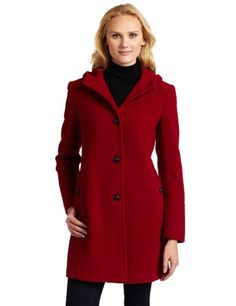 Tommy Hilfiger Women's Classic Hooded Wool Coat $139.99