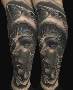 artists on Somegram G Tattoo, Sick Tattoo, Tattoo Girls, Girl Tattoos, Tattoos For Guys, Shell Tattoos, Black And Grey Tattoos, Animal Design, View Photos