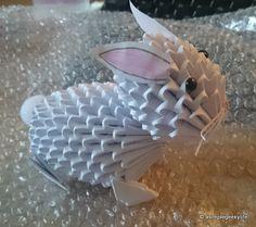 3d origami rabbit ile ilgili görsel sonucu
