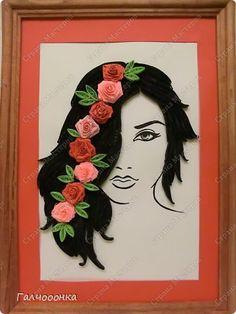 Картина панно рисунок Квиллинг Страсть Бумажные полосы фото 1