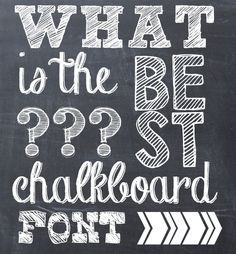 Here are a list of all the chalkboard fonts I use for my ...