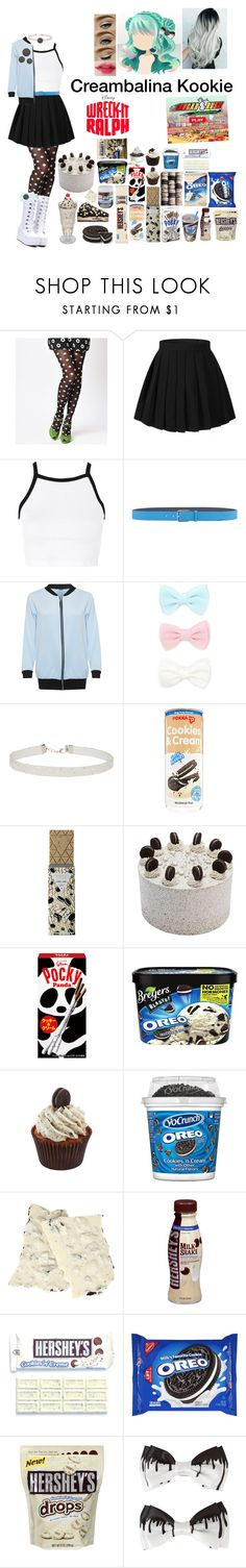 """""""Wreck it ralph Sugar Rush OC: Creambalina Kookie"""" by silentdoll ❤ liked on Polyvore featuring Topshop, Jil Sander, WearAll, Forever 21, Miss Selfridge, Hershey's, Disney, FREDS at Barneys New York, Hot Topic and RALPH"""