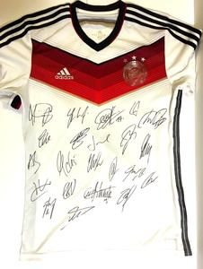 ad6bda733 2014 Germany World Cup Team Autographed Soccer Jersey