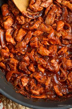 Slimming Eats Low Syn Stove Top BBQ Chicken - gluten free, dairy free, paleo, Slimming World and Weight Watchers friendly astuce recette minceur girl world world recipes world snacks Slow Cooker Slimming World, Slimming World Fakeaway, Slimming World Dinners, Slimming World Chicken Recipes, Slimming World Recipes Syn Free, Slimming World Diet, Slimming Eats, Slimming World Bbq Sauce, Stove Top Bbq Chicken