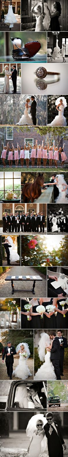 I like the styling of this weddding so much. Very classy. Southern Wedding of the Week « Southern Weddings Magazine