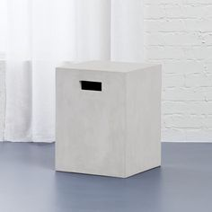 cement ivory side table
