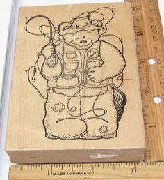 BIG BEAR FLY FISHING BY DARCIE'S Rubber Stamp   #DARCIES #RUBBERSTAMP