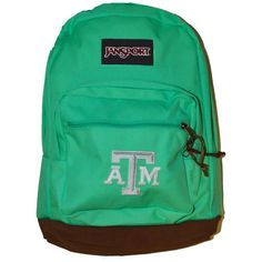 Texas a&m right pack seafoam green backpack