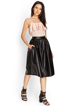 Faux Leather A-Line Skirt | FOREVER 21 - 2000062576
