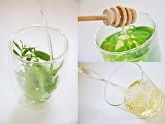 Home made Verveine Ice tea without sugar.