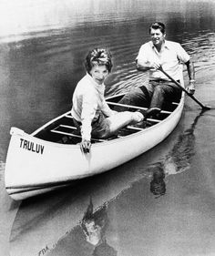 Michael Reagan Young   Ronald Reagan took his wife Nancy for a canoe ride on a pond at their ...