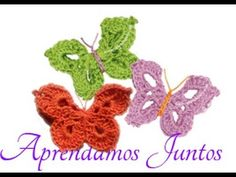 Mariposas en crochet / English subtitles: crochet butterflies - YouTube