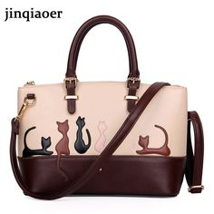 Women's Handbags Women Cute Cat Rabbit PU Leather Shoulder Bag Detachable Belt Handbags Lady Messenger Crossbody Casual Tote #CLICK! #clothing, #shoes, #jewelry, #women, #men, #hats