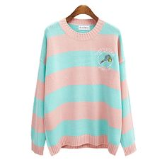 Shuttlecock Striped Knitted Sweater (2 COLORS)