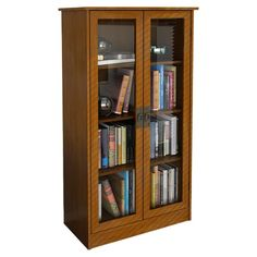 Books suit in a wooden bookcase more than a metal or acrylic bookcase. The natural aura of your wood. Wall Mounted Bookshelves, Bookcase With Glass Doors, Wooden Bookcase, Glass Shelves, Display Shelves, Acrylic Bookcase, Display Cabinets, Book Shelves, Barrister Bookcase