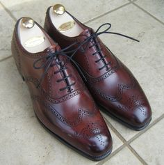 Edward Green Inverness burgundy wingtips