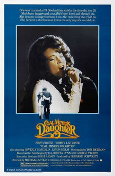 Coal Miner's Daughter Movies Poster - 69 x 102 cm 1980's Movies, Great Movies, Films, Best Movie Posters, Original Movie Posters, Country Musicians, Country Music Singers, The Daughter Movie, Beverly D'angelo