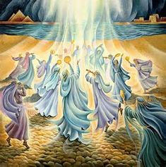 Miriam & the women rejoicing with dance at the Red Sea - Inspiration